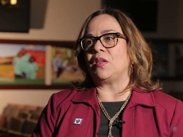 <p>Nancy Navarro is the first Latina immigrant to serve on the council and a native Spanish speaker and has prioritised causes of racial equity and social justice during her tenure</p> (YouTube)