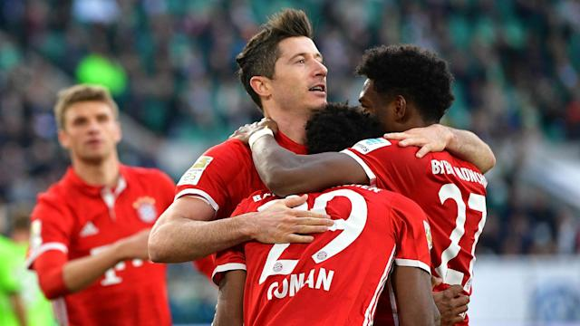 Robert Lewandowski had the full support of his team-mates in his bid to land the Bundesliga's Golden Boot award.