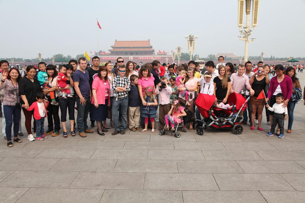 Duggars in Tiananmen Square.