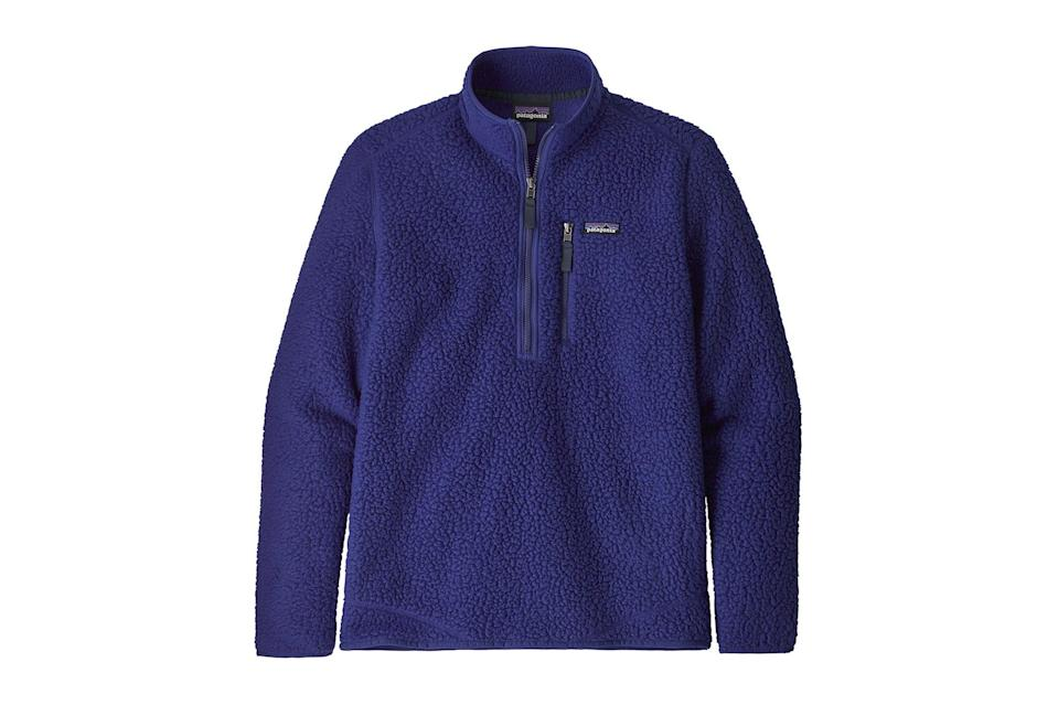 "$129, REI. <a href=""https://www.rei.com/rei-garage/product/176438/patagonia-retro-pile-pullover-mens"" rel=""nofollow noopener"" target=""_blank"" data-ylk=""slk:Get it now!"" class=""link rapid-noclick-resp"">Get it now!</a>"