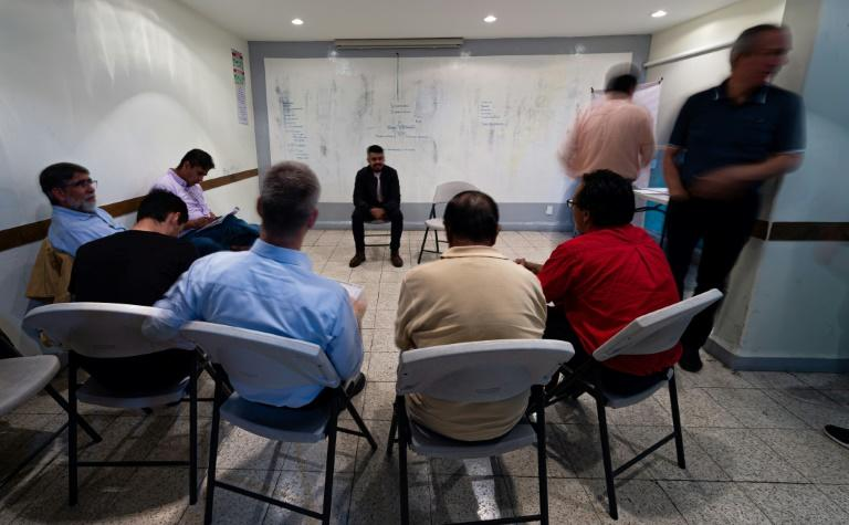 Participants of the support group meet to reflect on how machismo is deeply entrenched in Mexican society
