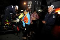 <p>Rescuers wait at the dock after a tourist boat sank with 150 passengers onboard at the Guatape reservoir, Colombia, June 25, 2017. (Fredy Builes/Reuters </p>
