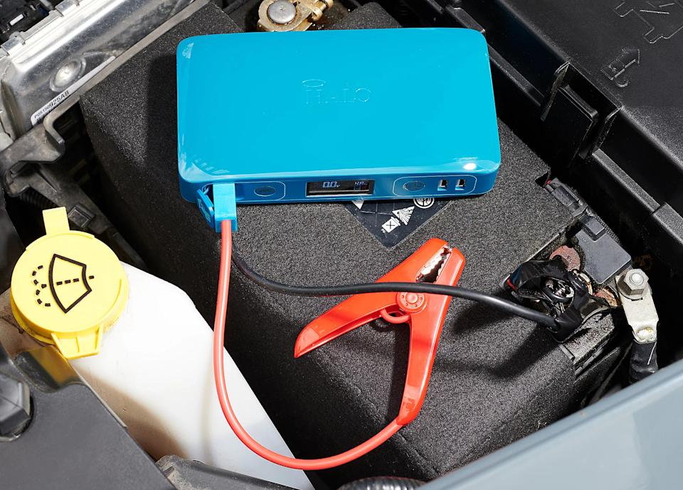 The Halo Bolt Bolt Compact Portable Car Charger is on sale for just $100. (Photo: Halo)