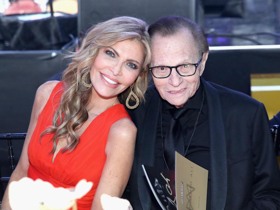 Shawn King and Larry King at Muhammad Ali's Celebrity Fight Night XXIII on 18 March 2017 in Phoenix, Arizona (Jonathan Leibson/Getty Images for Celebrity Fight Night)