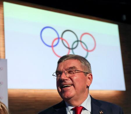 Thomas Bach, President of the International Olympic Committee (IOC), smiles at the end of the 133rd IOC session in Buenos Aires, Argentina October 9, 2018. REUTERS/Marcos Brindicci