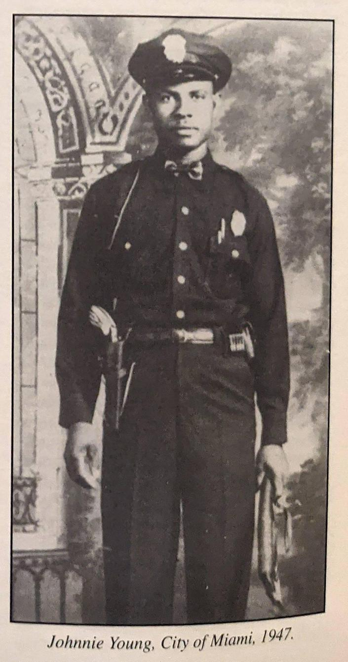 Miami, Florida, May 7 2021 - File photo of Officer Johnnie Young who was 33 and one of Miami's first Black sworn police officers when he was killed in the line of duty on May 7, 1947.