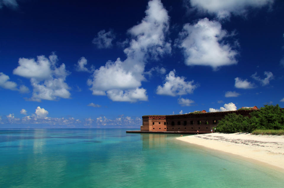 Dry Tortugas National Park is one of the most isolated coastal fortifications in the US. (Getty Images)