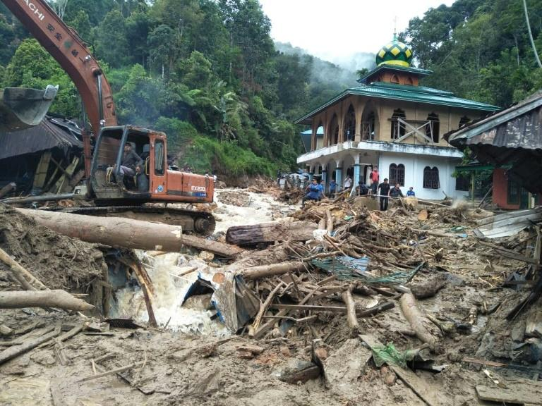 Heavy downpours since Wednesday triggered flooding and landslides that hit several districts in Sumatra