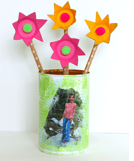 """<p>You can upcycle an old tin can (make sure there are no sharp edges!), paint it and personalize it with a photo. Then Dad can use it for pencils, flowers or anything else he might need to store.</p><p><a href=""""https://buggyandbuddy.com/tin-can-pencil-holder/"""" rel=""""nofollow noopener"""" target=""""_blank"""" data-ylk=""""slk:Get the tutorial at Buggy and Buddy »"""" class=""""link rapid-noclick-resp""""><em>Get the tutorial at Buggy and Buddy »</em></a></p>"""