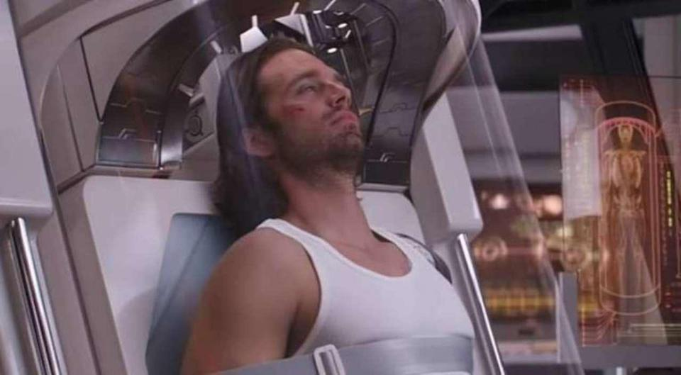 Bucky Barnes was sent to Wakanda to recover after the events of Captain America: Civil War, thus the original broken white boy