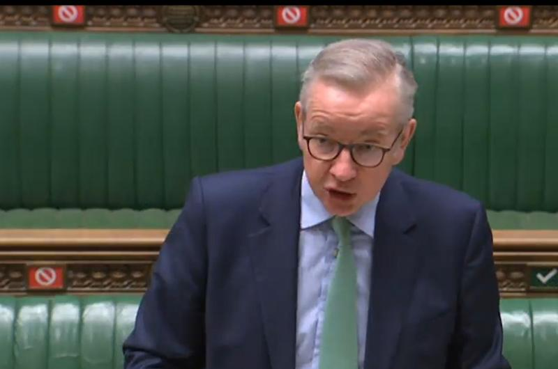 Michael Gove announcing permit plan in the CommonsAFP via Getty Images
