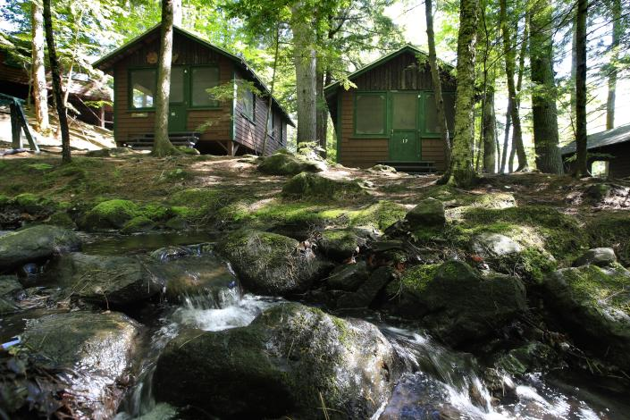 Cabins at Camp Winnebago in Fayette, Maine. (Robert F. Bukaty/AP Photo)