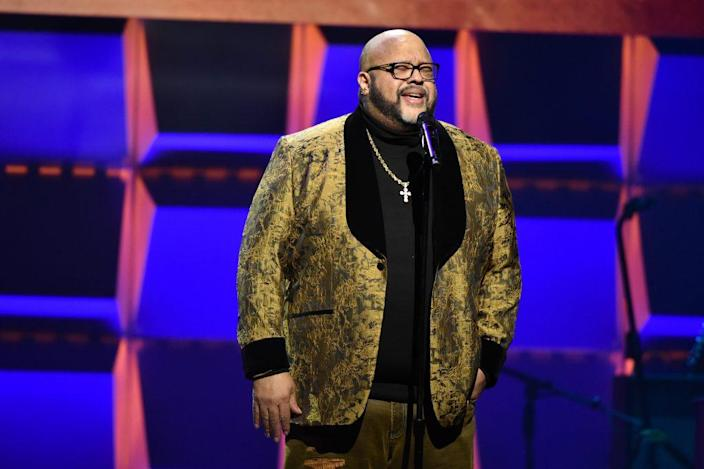 Fred Hammond of Commissioned performs onstage during the BET Super Bowl Gospel Celebration at the James L. Knight Center on January 30, 2020 in Miami, Florida. (Photo by Aaron J. Thornton/Getty Images for BET)