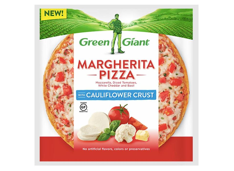 green giant frozen margherita cauliflower pizza