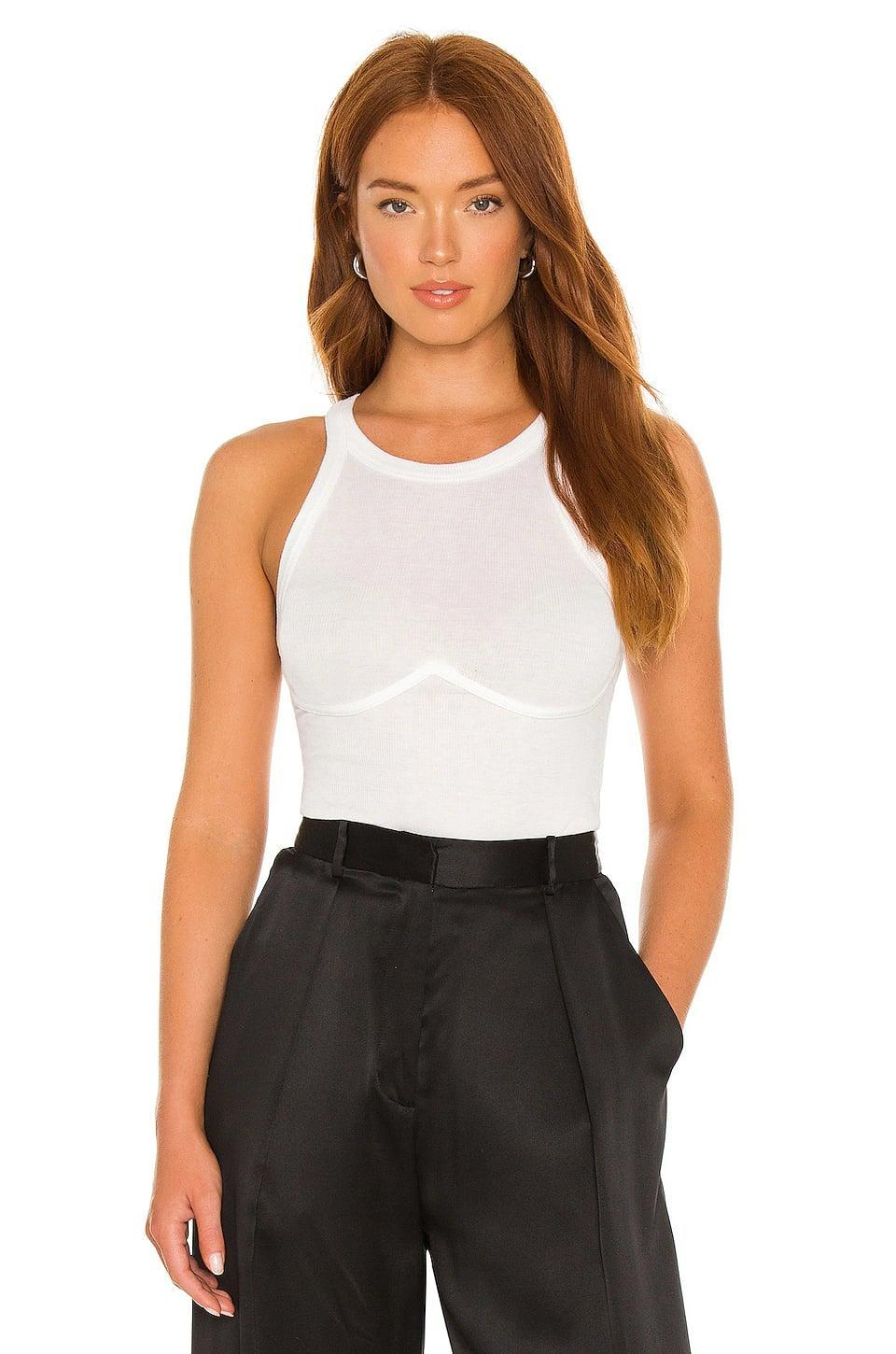<p>This <span>Monrow Bustier Tank</span> ($106) looks and feels like a classic tank, but the details give it a sexy look. Sign us up.</p>