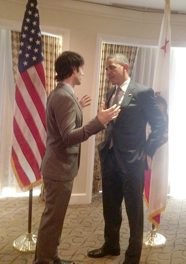 Ian Somerhalder Talks Green Energy With President Obama — WOW