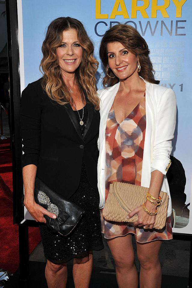 """<a href=""""http://movies.yahoo.com/movie/contributor/1800019302"""">Rita Wilson</a> and <a href=""""http://movies.yahoo.com/movie/contributor/1804536542"""">Nia Vardalos</a> at the Los Angeles premiere of <a href=""""http://movies.yahoo.com/movie/1810196533/info"""">Larry Crowne</a> on June 27, 2011."""