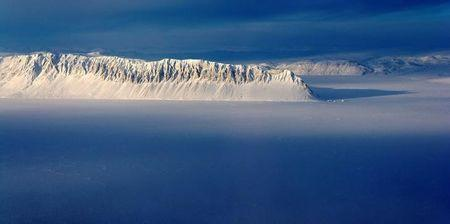 Eureka Sound on Ellesmere Island in the Canadian Arctic is seen in a NASA Operation IceBridge survey picture taken March 25, 2014. NASA/Michael Studinger/Handout via REUTERS/Files