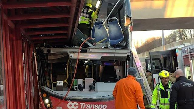 Several injured in 'serious' bus crash near Westboro station