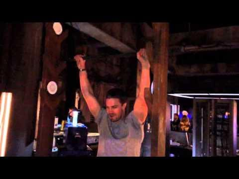 """<p>Watch as Amell hoists himself up what is referred to as the """"salmon ladder."""" Executive producer Marc Guggenheim said in an <a href=""""https://www.huffingtonpost.com/2012/10/11/arrow-stephen-amell--ladder_n_1936348.html"""" rel=""""nofollow noopener"""" target=""""_blank"""" data-ylk=""""slk:interview"""" class=""""link rapid-noclick-resp"""">interview</a>, """"It's one of the most talked about moments in the pilot."""" </p><p><a href=""""https://www.youtube.com/watch?v=JANtG5vpTPU&feature=youtu.be"""" rel=""""nofollow noopener"""" target=""""_blank"""" data-ylk=""""slk:See the original post on Youtube"""" class=""""link rapid-noclick-resp"""">See the original post on Youtube</a></p>"""