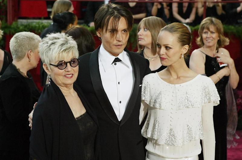 Difficult: Depp opened up about his relationship with mother Betty Sue (left) (Getty Images)
