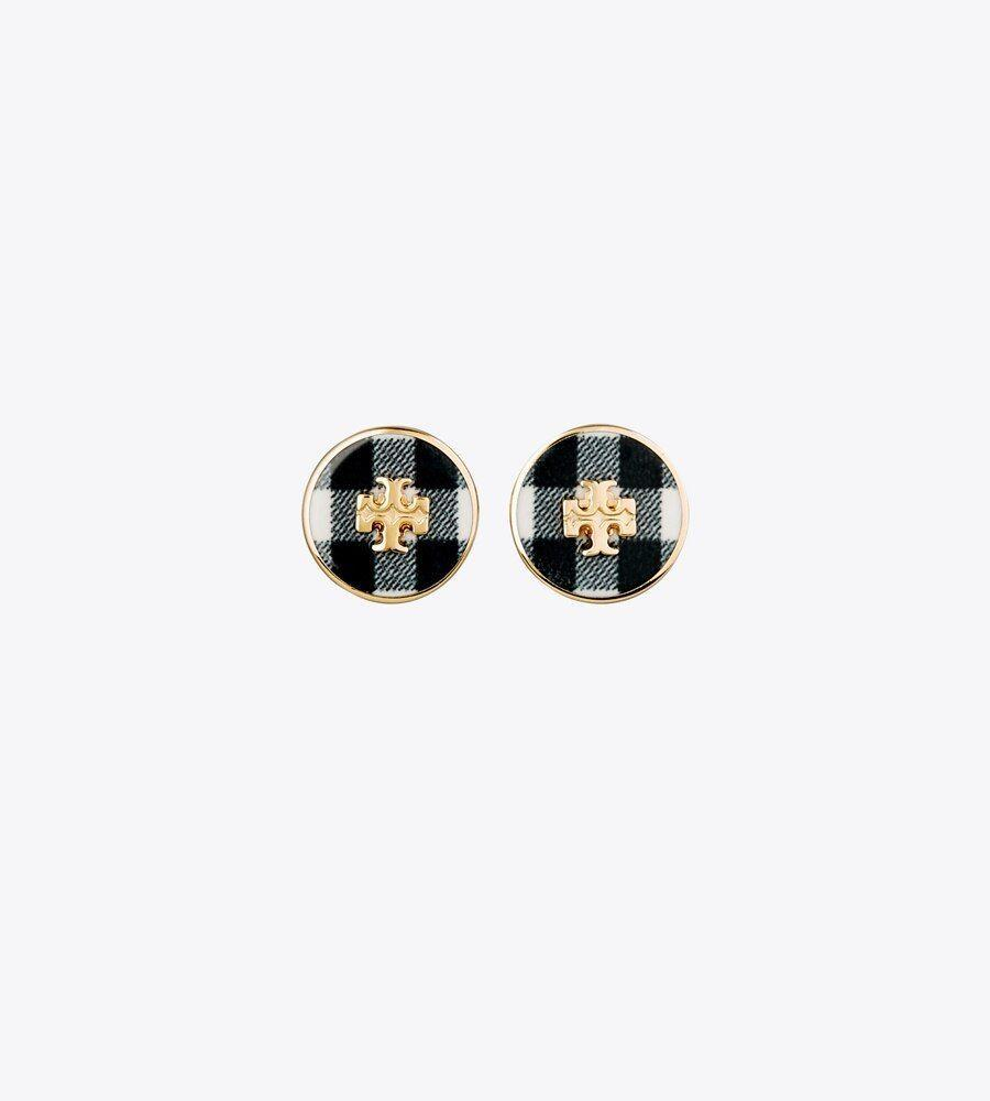 """<p>toryburch.com</p><p><strong>$88.00</strong></p><p><a href=""""https://go.redirectingat.com?id=74968X1596630&url=https%3A%2F%2Fwww.toryburch.com%2Fjewelry%2Fearrings%2Fkira-printed-circle-stud-earring%2F81074.html&sref=https%3A%2F%2Fwww.townandcountrymag.com%2Fstyle%2Fg37340584%2Fshop-the-best-deals-from-tory-burchs-private-sale%2F"""" rel=""""nofollow noopener"""" target=""""_blank"""" data-ylk=""""slk:Shop Now"""" class=""""link rapid-noclick-resp"""">Shop Now</a></p><p><strong><strong><del>$88</del> $59 (33% off)</strong></strong></p><p>Consider this set of tartan earrings the perfect finishing touch to any outfit. </p>"""