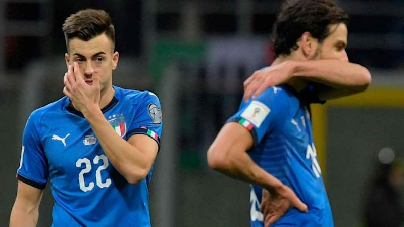 Italian players cannot believe they won't be in Russia. Pic: Getty