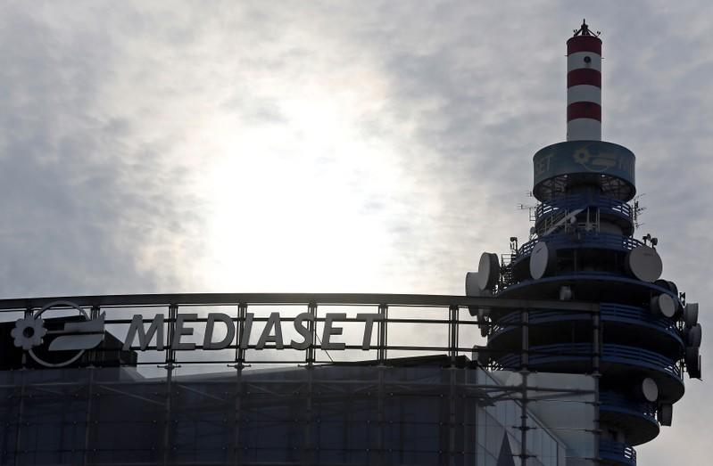 FILE PHOTO: The Mediaset tower is seen at the headquarter in Cologno Monzese, near Milan