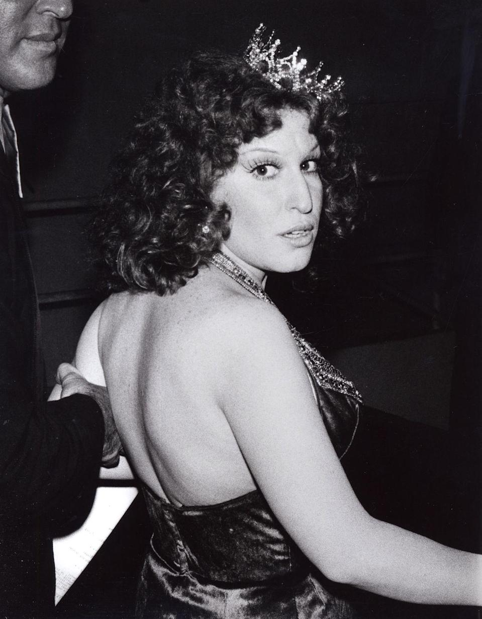 <p>Galella photographed Midler at 1977's Grammy Awards.</p>