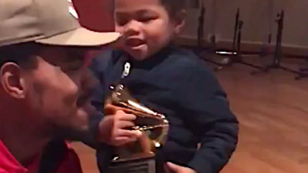 Chance The Rapper Unboxing His Grammys With His Daughter Is Too Cute For Words