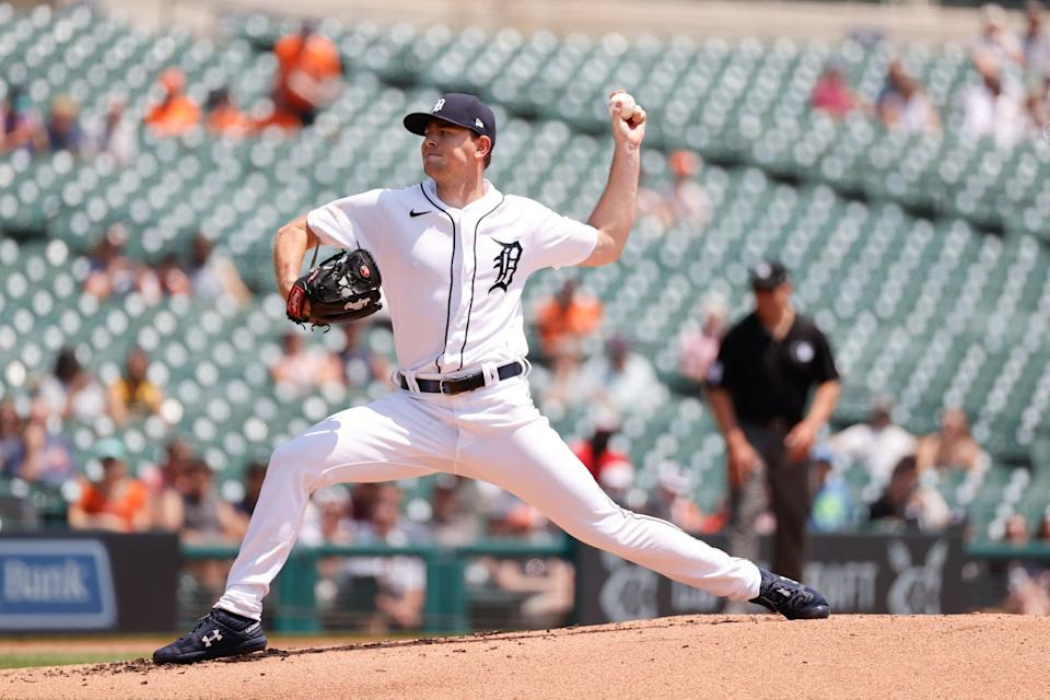 Detroit Tigers starting pitcher Tyler Alexander (70) pitches in the second inning June 10, 2021 against the Seattle Mariners at Comerica Park.