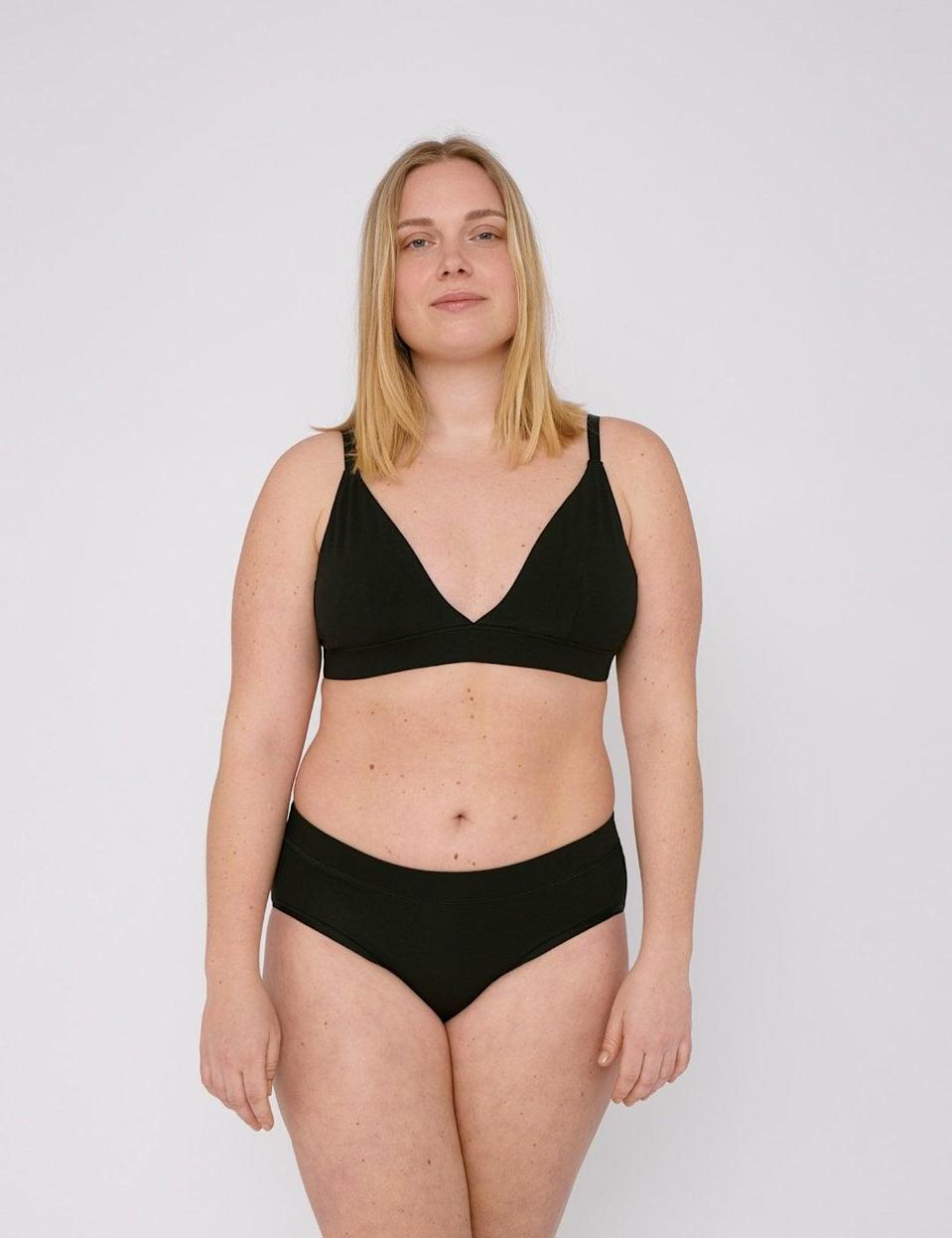 <p>If you're into basics, definitely stock up on the <span>Organic Basics Organic Cotton Briefs</span> ($39 for a pack of two).</p>
