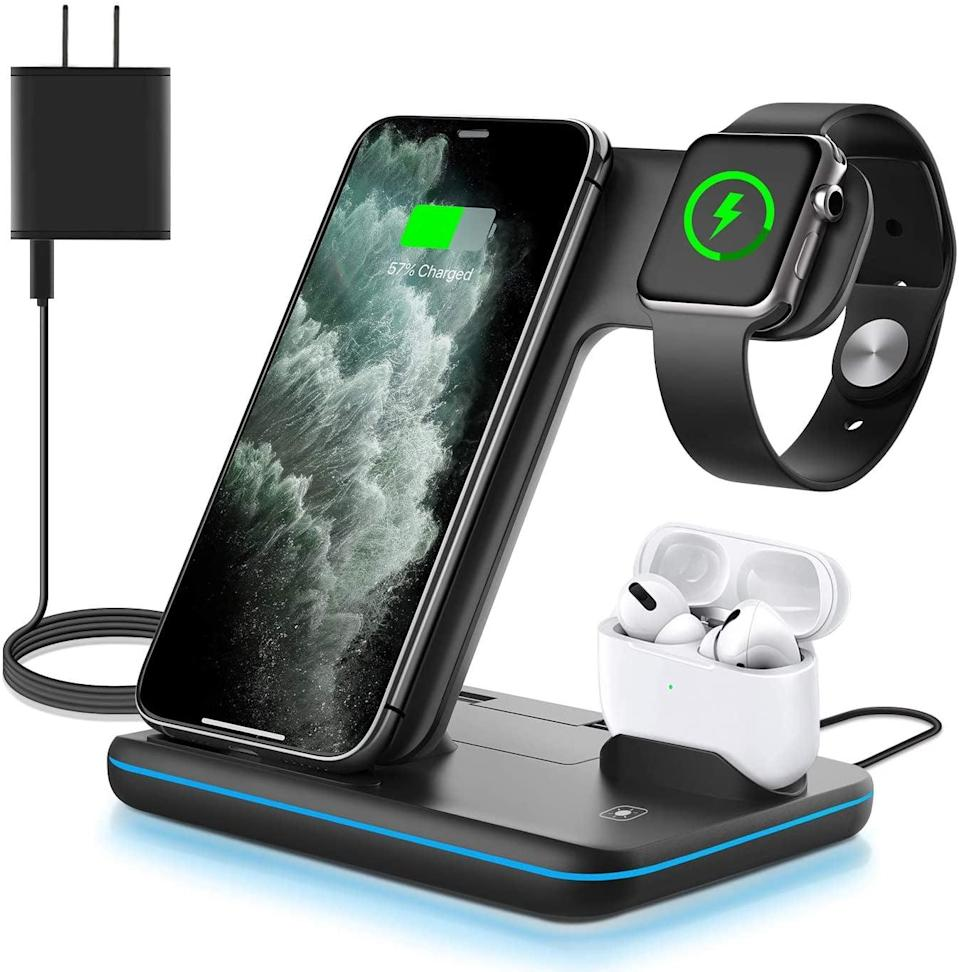 <p>Keep all your devices charged with this useful <span>WAITIEE Wireless Charger 3 in 1</span> ($30).</p>