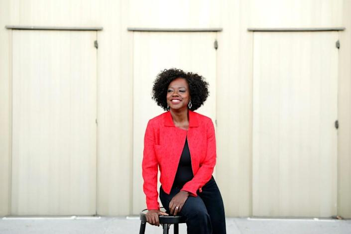 LOS ANGELES-CA-NOVEMBER 11 2020: Viola Davis is photographed at the Ahmanson Theatre in downtown Los Angeles on Wednesday, November 11, 2020. (Christina House / Los Angeles Times)