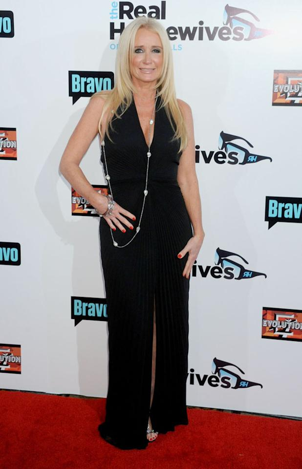 "Kim Richards arrives at ""The Real Housewives Of Beverly Hills"" Season 3 premiere party at the Hollywood Roosevelt Hotel on October 21, 2012 in Hollywood, California."