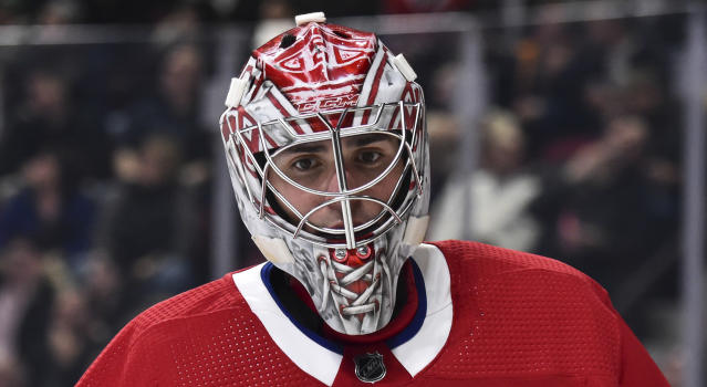 Montreal's Carey Price may half a decade removed from his jaw-dropping 2014-15 season, but NHL players definitely haven't forgotten. (Minas Panagiotakis/Getty Images)