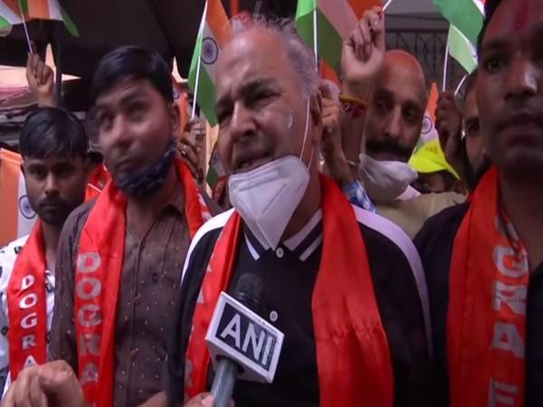 Protestor of Dogra Front (Photo/ANI)