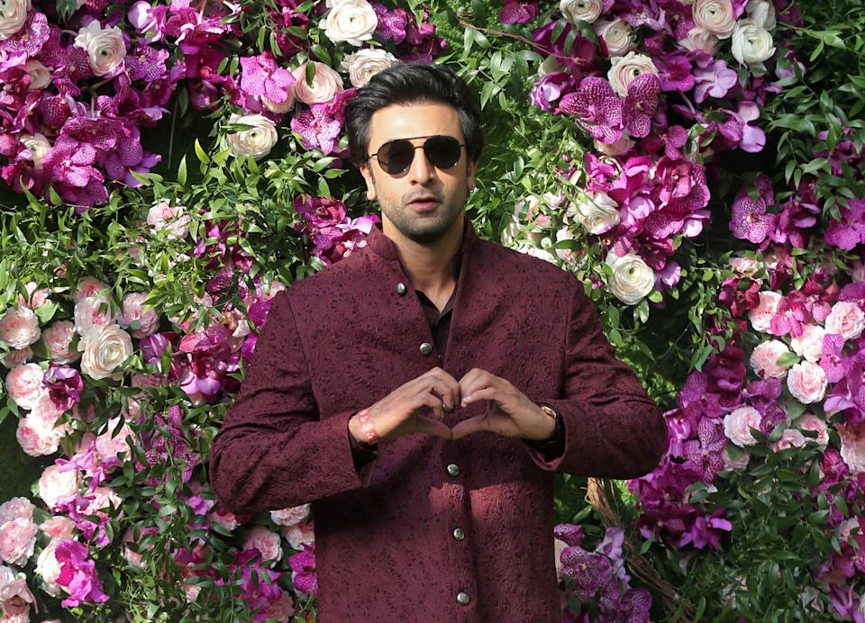 Bollywood actor Ranbir Kapoor poses during a photo opportunity at the wedding ceremony of Akash Ambani, son of the Chairman of Reliance Industries Mukesh Ambani, at Bandra-Kurla Complex in Mumbai, India, March 9, 2019. REUTERS/Francis Mascarenhas