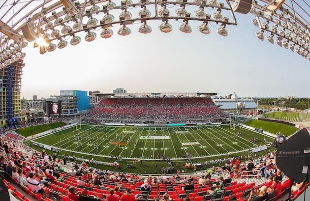 OTTAWA, ON – JULY 18: A general view of TD Place Stadium prior to the franchise home opener between the Ottawa Redblacks and the Toronto Argonauts during a CFL game on July 18, 2014 in Ottawa, Ontario, Canada. (Photo by Andre Ringuette/Freestyle Photography/Getty Images)