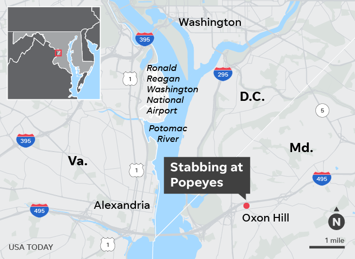 Two Maryland men got into a fight over a Popeyes chicken sandwich. One of them was stabbed to death, police say
