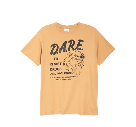 Unisex Secondhand 2000s D.A.R.E. Graphic Tee. Image via Nordstrom.