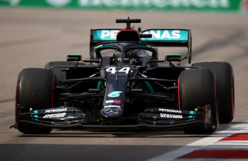 Motor racing: Hamilton on pole in Russia with sights on Schumacher record