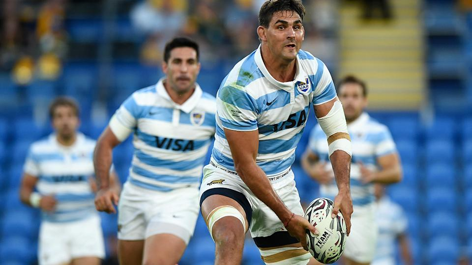 Pumas star Pablo Matera has been ruled 'ineligible' for Saturday's clash with the Wallabies, along with five other teammates. (Photo by Matt Roberts/Getty Images)