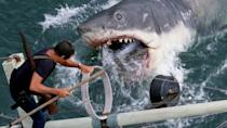 """<p><strong><em>Jaws</em></strong></p><p>A local sheriff attempts to capture the killer great white shark that has been terrorizing the waters of an idyllic coastal town.<br></p><p><a class=""""link rapid-noclick-resp"""" href=""""https://www.amazon.com/Jaws-Roy-Scheider/dp/B009CG9CXO/?tag=syn-yahoo-20&ascsubtag=%5Bartid%7C10055.g.29120903%5Bsrc%7Cyahoo-us"""" rel=""""nofollow noopener"""" target=""""_blank"""" data-ylk=""""slk:WATCH NOW"""">WATCH NOW</a></p>"""