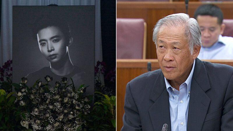 Defence Minister Ng Eng Hen shared the Committee of Inquiry's findings into the death of CFC (NS) Aloysius Pang in Parliament on 6 May, 2019. (PHOTOS: AP, Mindef)