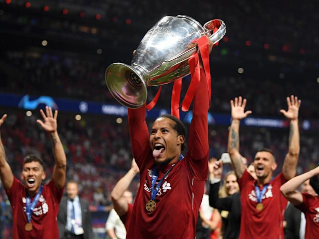 Virgil Van Dijk has been nominated for the Uefa Team of the Year: Getty