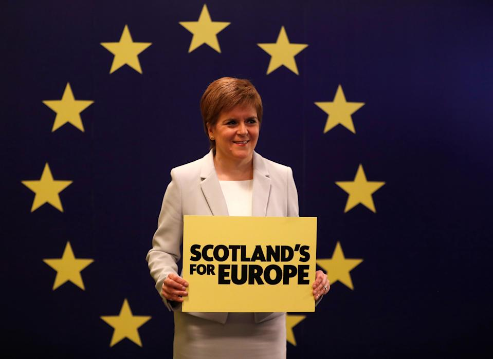 The SNP have been in power since 2007 and won the lion's share of constituencies in 2016. Nicola Sturgeon, above, is looking for her party to claim yet another victory, needing to take just four more seats than they already hold to win a majority of 65 in the 129-seat Scottish parliament. Photo: Russell Cheyne/Reuters