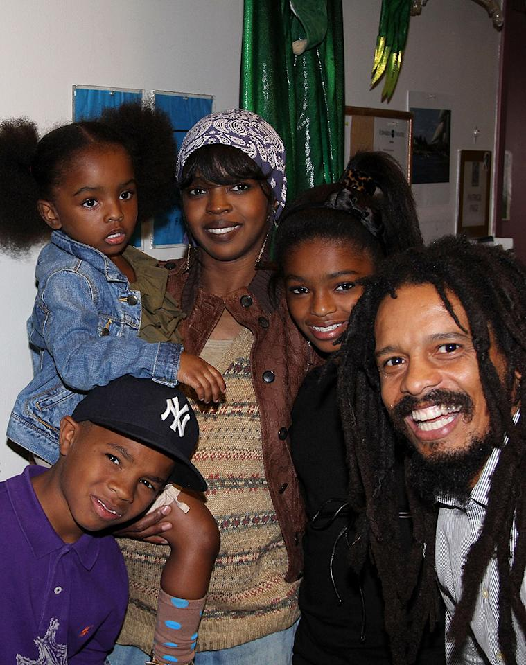"<p class=""MsoNormal""><span>Singer Lauryn Hill and Bob Marley's son Rohan Marley brought plenty of musical talent into the world when they had five children together: 15-year-old Zion, 14-year-old Selah, 10-year-old Joshua, 9-year-old John, and 4-year-old Sarah. Hill and Marley never married, and Marley had two children with his now-ex-wife Geraldine Khawly, and some reports speculated that the two were still married when he fathered all those kids with Hill. But it gets even more complicated: Hill, 37, gave birth to her sixth child, a son named Micah, last summer. His father's name has not been disclosed. Meanwhile, Marley, 40, is engaged to Brazilian model Isabeli Fontana, who also happens to have a son named Zion. What are the chances? </span></p>"