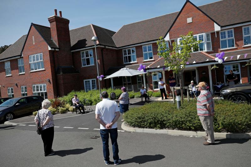 Care homes have found it hard to allow visitors to see their loved ones in a socially distant way, with some having to set up meetings outdoors. (Getty)