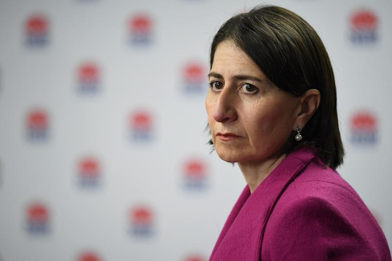 NSW Premier Gladys Berejiklian said at this stage the state was not considering putting the area where the outbreak is under lockdown! Source: AAP